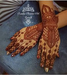 @thefeelingsreal Indian Henna Designs, Unique Mehndi Designs, Beautiful Mehndi Design, Bridal Mehndi Designs, Bridal Henna, Mehandi Designs, Mehandi Henna, Hand Mehndi, Mehndi Tattoo