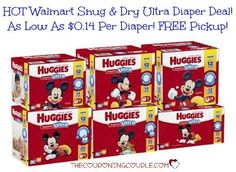 HOT DIAPER DEAL!! Get Huggies Snug & Dry Ultra Diapers for as little as $0.14 each! Free store pickup too!  Click the link below to get all of the details ► http://www.thecouponingcouple.com/huggies-snug-dry-ultra-diapers-as-low-as-0-14-ea-free-store-pickup/  #Coupons #Couponing #CouponCommunity  Visit us at http://www.thecouponingcouple.com for more great posts!