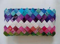 Candy wrapper clutch
