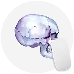 Watercolor Skull Mouse Pad Decal