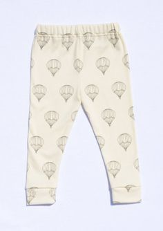 Unisex Baby Leggings, Organic Cotton Leggings, MADE TO ORDER, Hot Air Balloon leggings by House of Mia