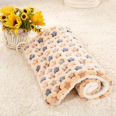 Shenna has picked out these lovely pet blankets to keep your pet nice and warm and comfy.  Very handy for traveling or where space is at a premium.