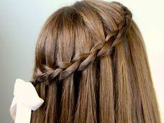 Long Hair Waterfall Braid