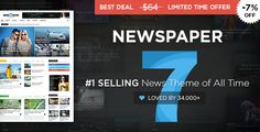 Newspaper is a WordPress theme that lets you write articles and blog posts with ease.  Plus its Google Adsense Optimized.  They offer great support and friendly help!  The Newspaper template is excellent for almost any kind of site. Its that flexible.  Build your Wordpress blog with this theme today.