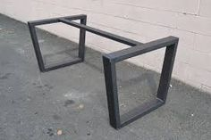 Image result for wooden table top with metal legs modern