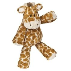"""Mary Meyer Marshmallow Zoo 13"""" Giraffe Plush by Mary Meyer. Save 18 Off!. $16.34. 13"""" long, with weighted bum and feet. Marshmallow Zoo animals dangle like they've been loved for years. Mary Meyer products are all made to strict quality standards to meet or exceed US toy safety requirements. Marshmallow Zoo Giraffe is an ultra soft plush friend with plastic eyes and embroidered mouth. Mary Meyer toys are completely safe and have the lasting value you expect from a company that's been ma..."""