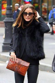 Olivia Palermo sporting her Crocodile Hermes Jige Elan Handbag.