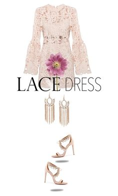 """""""lace up"""" by fanfan-zheng ❤ liked on Polyvore featuring Aquazzura and lace"""