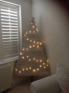 White room christmas tree