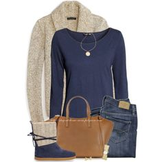 """TOMS Cable Knit Suede Boots"" by stay-at-home-mom on Polyvore"