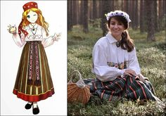 Traditional Clothes of Kuusalu, Harju, Estonia