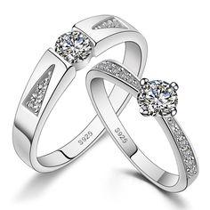 Diamond #Wedding Ring Band Set @Yoyoon.com