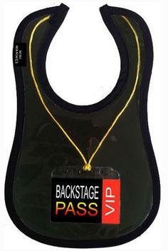 Hipster Babies bib backstage pass rock star kids mini maniacs