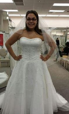 David's Bridal 14010165 14: buy this dress for a fraction of the salon price on PreOwnedWeddingDresses.com