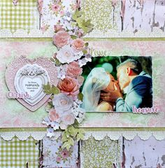 Cathy Can't Help Herself: Kaisercraft DT - Sea Breeze and Cottage Rose Collections Wedding Scrapbook Pages, Birthday Scrapbook, Vintage Scrapbook, Scrapbook Supplies, Scrapbooking Layouts, Diy Crafts Yard, Cottage Rose, Friend Scrapbook, Time Stood Still