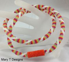 Spiral Splash Bead Crochet Necklace with Hidden Clasp...EBW Team