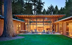 Cutler Anderson Architects - Beaux Arts Residence — Home Home Building Design, Building A House, Cottage Design, House Design, Art Village, House In Nature, Contemporary House Plans, Courtyard House, Architect House