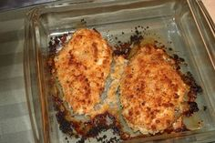 Baked Parmesan Crusted Chicken Breast Recipe #baked #chicken #breast # ...