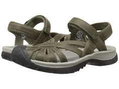 Keen: Womens Rose Leather Sandal Big Kid/Women (Burnt Olive/Neutral Grey)