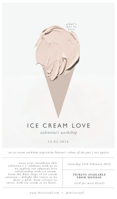 ICE CREAM LOVE WORKSHOP Digital Poster | design by SHE IS VISUAL…