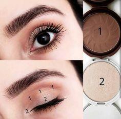 hacks every girl should know make up eyeshadows Korean Eye Makeup, Smoky Eye Makeup, Eye Makeup Steps, Makeup Eye Looks, Simple Eye Makeup, Natural Eye Makeup, Beauty Makeup, Winged Eyeliner, Maybelline Makeup