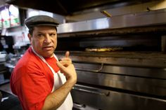 """"""" """"This business, slices of pizza like we do, its not an easy business. But if you know what you're doing, like I said, people recognize that, and they come back. They always come back."""" """"  George, Owner - Anna Maria's, Williamsburg, Brooklyn."""