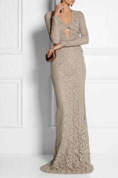 Burberry Prorsum|Green Carpet Challenge: Cutout lace gown|NET-A-PORTER.COM