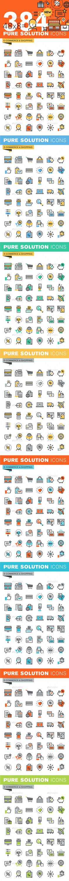 Set of Thin Line Flat Design Icons of E-Commerce and Shopping. Download here: http://graphicriver.net/item/set-of-thin-line-flat-design-icons-of-ecommerce-and-shopping/14788278?ref=ksioks