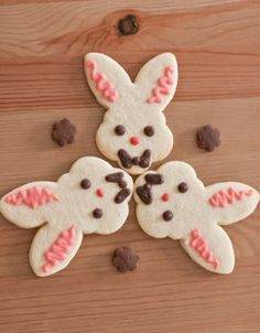 Nice way to decorate cookies using colored dough instead of the traditional royal icing. I need to try this!