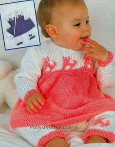 Instant Download  PDF Knitting Pattern for por PollysPrettyPatterns