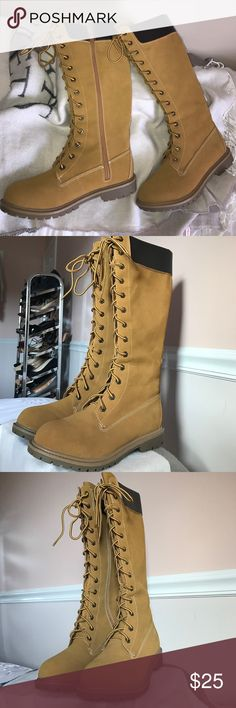 SALE!! BRAND NEW  Timberland inspired boots BRAND NEW  Timberland inspired boots - mid shin length. Shoes Winter & Rain Boots