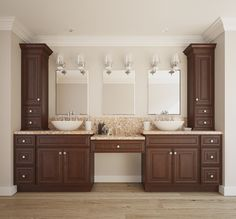 Java Maple Glaze Bathroom Vanity