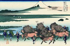 葛飾北斎 Katsushika Hokusai 駿州大野新田 Ōno Shinden in the Suruga Province 富嶽三十六景「裏富士」から from a Series of 36 Views of Mount Fuji (Additional) 木版画 Woodblock printing