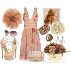 """""""floral print dress"""" by candy420kisses on Polyvore"""