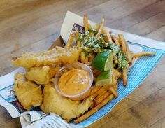 This Mexican restaurant spices things up with a chipotle tartar sauce and chimichurri-drizzled french fries.