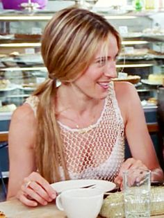 Sarah Jessica Parker is city chic with a low maintenance ponytail