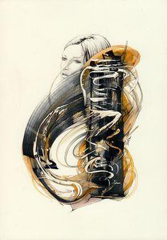 Parka  original artwork  Reece Hobbins -   editevening, $60.00