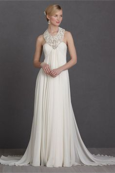 A little bit of lace can go a long way. Sometimes more is more, but this #wedding dress gets it just right :)