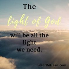 In our future home, God's splendor will shine so brightly that we won't need the sun. https://www.peterdehaan.com/the-bible/the-light-of-god/