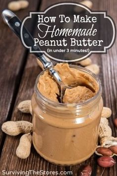 How to make homemade peanut butter! It is super easy and tastes SO much better than store-bought! Gotta try this, cause we love peanut butter! Frozen Dog Treats, Do It Yourself Food, Homemade Peanut Butter, Vitamix Peanut Butter, Peanut Butter Jar, Peanut Oil, Homemade Dog, Almond Butter, Dog Treat Recipes
