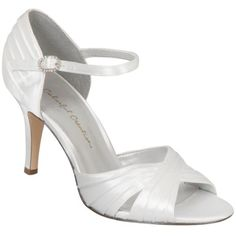 White Colorful Creations Brooke Bridal Shoes