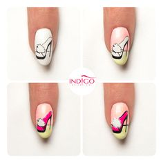 by Paulina Walaszczyk step by step - Follow us on Pinterest. Find more inspiration at www.indigo-nails.com #nailart #nails #indigo #icon #shoe