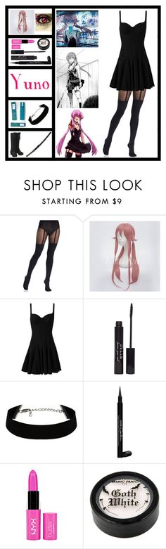 """The Cosplay Tag - Outfit #6 - Yuno Gasai"" by insane-alice-madness ❤ liked on Polyvore featuring Pretty Polly, Alexander McQueen, S.W.O.R.D., Stila, Givenchy, NYX and TheCosplayTag"