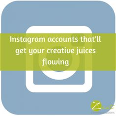 Instagram accounts that'll get your creative juices flowing! #smm #socialmedia