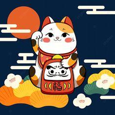 Pink Wallpaper Anime, Minimalist Drawing, Modelos 3d, Vintage Logo Design, Maneki Neko, China, Geometric Art, Fantasy Creatures, Asian Art