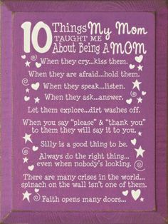 Great post with mom sayings