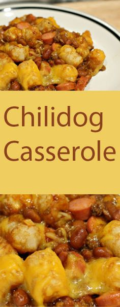 "I usually make this casserole around this time of year. It's a great ""go-to"", ""quick and easy"" dish. I'm serious, it's really easy! This recipe tastes similar to a chili hotdog, just one that you eat with a fork. #recipes #ChilidogCasserole #easyrecipe"