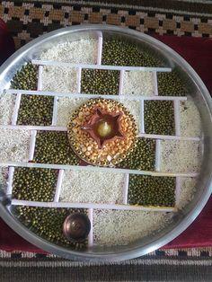 Decor Crafts, Diy Home Decor, Diy And Crafts, Arts And Crafts, Diwali Decorations, Festival Decorations, Wedding Decorations, Arti Thali Decoration, Ganesh Pooja