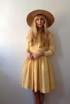 Yellow Gingham Day Dress