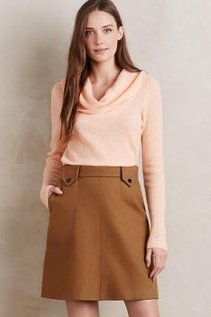 762e60db3b6d2 Now $70 NWT $228 Anthropologie Sophia Cashmere Cowlneck SM Peach Coral  Knitted & Knotted #